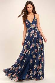 maxi dresses lovely navy blue floral print dress maxi dress wrap dress 98 00
