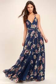 floral maxi dress lovely navy blue floral print dress maxi dress wrap dress 98 00