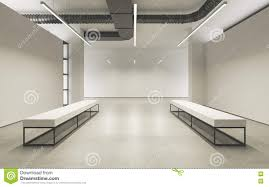 Minimalistic Interior Design Modern Empty Minimalistic Interior Of Exhibition With Clean Walls