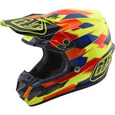 troy lee designs motocross helmets troy lee designs 2018 se4 composite maze yellow blue helmet at