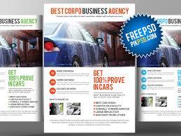free car wash flyer psd