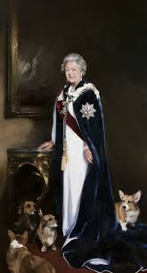 queen elizabeth portraits accentbritain corgi love pinterest