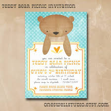bear birthday invitations image collections invitation design ideas