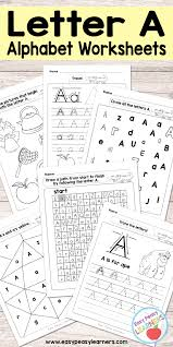 letter a worksheets alphabet series easy peasy learners