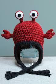 hermit crab hat crochet animal ear flap hat purlsandpixels