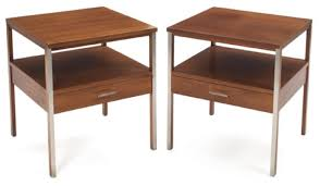 paul mccobb mid century modern minimalist nightstands