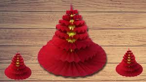 how to make a rosette yoyo christmas tree hd handmade origami