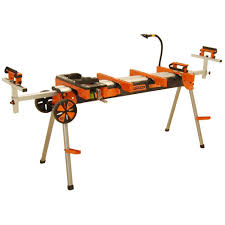 general international 8 in miter saw stand with solid tires