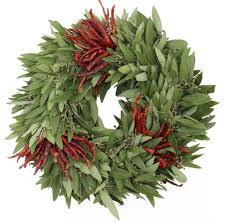 accessories endearing home interior with fresh bayleaf wreath