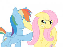 Rainbow Dash Meme - create meme evil fluttershy rainbow dash and fluttershy pony