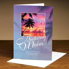 birthday cards birthday wishes palm trees 25 pack greeting cards