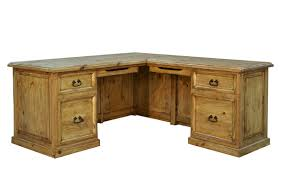 Rustic Wood Desk Rusticos Sierra Traditional Right