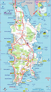 Map Of Thailand Map Of Phuket Thailand Map And Info On Phuket Beaches Map