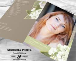 Funeral Programs Printing Tropical Flowers Funeral Program Funeral Folder Celebration