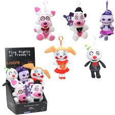 baby keychains 6pcs funtime five nights at freddy s keychains with box 15cm