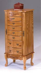 Large Jewelry Armoire 7203 By Bernards At Schewels Va Oak Jewelry Armoire Large
