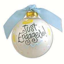 just engaged ornament