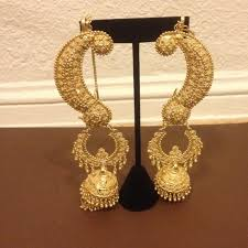ear cuffs india gold indian ear cuff dangle earrings nwt