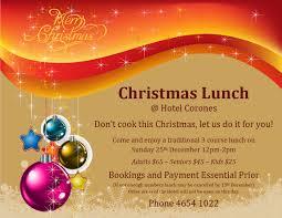 Christmas Carols Invitation Cards Hotel Corones What U0027s On