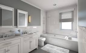 Porcelain Bathroom Vanity Bathroom White Drop In Alcove Bathtub Ceramic Brick Backsplash