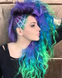 undercut long curly hair glitter undercut by guy tang balayage ombre collection