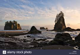 second usa rock formations in the second olympic national park