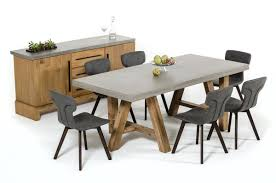 modrest civic modern concrete u0026 acacia dining table
