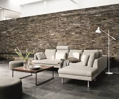 contemporary boconcept living sofa with soft back cushions for
