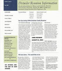 detwiler family web site 2004 reunion newsletter