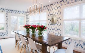 Wallpaper Ideas For Dining Room Property Brothers Season 5 Episode 19 Love The Patterned