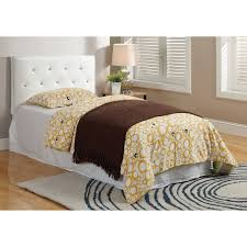 Leather Bed Headboards Classic Single Bed Headboards Solid Wood Material Honey Finish
