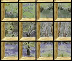 attic window on bluebell wood fabric eclectic house spoonflower