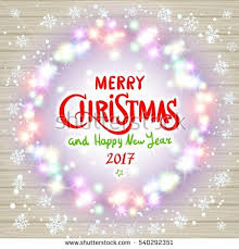 new year card design merry christmas happy new year lettering stock illustration