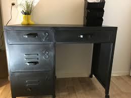 bureau metal noir achetez bureau metal noir occasion annonce vente à bois colombes
