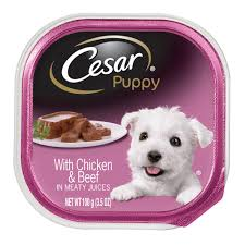 Puppy Makeup Halloween by Cesar Canine Cuisine Puppy With Chicken And Beef Puppy Food Tray