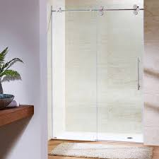 glass bath doors frameless vigo elan 64