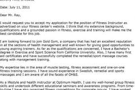 fitness instructor cover letter trainer cover letter personal