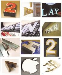 the production process of boutique advertising metal letters