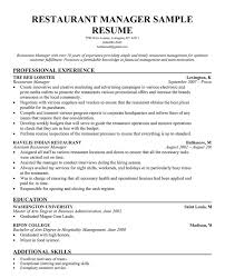 General Manager Resume Template Restaurant General Manager Resume Haadyaooverbayresort Com