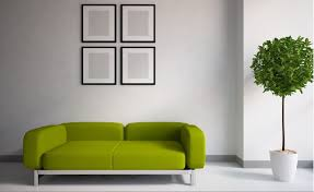 green couch in minimalist interior download 3d house