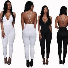 white sleeveless jumpsuit jumpsuit v neck jumpsuit cross back bodysuit sleeveless