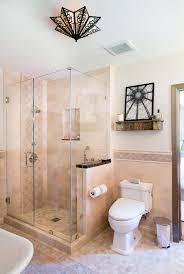 Basement Chair Rail - los angeles basement shower ideas bathroom mediterranean with