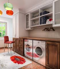 washer dryer in garage ideas laundry room contemporary with