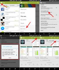 how to enable disable auto update android apps
