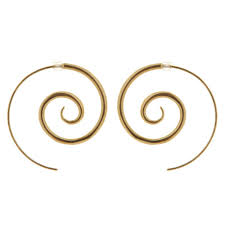 9ct gold earrings spiral 9ct gold plated earrings large arrow jewellery