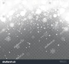 falling snow snowflakes on transparent background stock vector