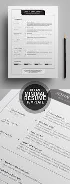 personal details resume minimalist wallpaper cute fresh simple clean resume templates and cover letter design