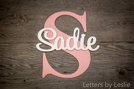 large nursery name sign capital letter baby name plaque