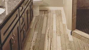 Alternatives To Hardwood Flooring - no splinters allowed u0027wood u0027 bathroom floors gaining popularity