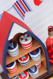 Wooden Nautical Flags Ahoy A Nautical Backyard Summer Bash Great 4th Of July Ideas
